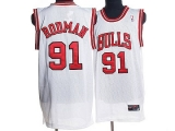Chicago Bulls #91 Dennis Rodman Stitched White NBA Jersey