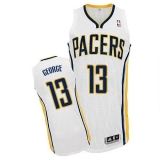 Revolution 30 Indiana Pacers #13 Paul George White Stitched NBA Jersey
