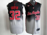 Los Angeles Clippers #32 Blake Griffin Black Grey Fadeaway Fashion Stitched NBA Jersey
