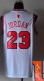 Revolution 30 Autographed Chicago Bulls #23 Michael Jordan White Stitched NBA Jersey