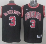 Revolution 30 Chicago Bulls #3 Doug McDermott Black Stitched NBA Jersey