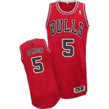 Revolution 30 Chicago Bulls #5 John Paxson Red Stitched NBA Jersey
