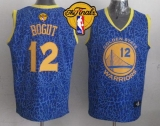 Golden State Warriors #12 Andrew Bogut Blue Crazy Light The Finals Patch Stitched NBA Jersey