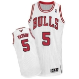 Revolution 30 Chicago Bulls #5 John Paxson White Stitched NBA Jersey