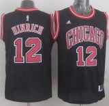 Revolution 30 Chicago Bulls #12 Kirk Hinrich Black Stitched NBA Jersey