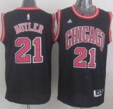 Revolution 30 Chicago Bulls #21 Jimmy Butler Black Stitched NBA Jersey
