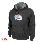NBA Los Angeles Clippers Pullover Hoodie Dark Grey