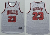 Revolution 30 Chicago Bulls #23 Michael Jordan Grey Stitched NBA Jersey