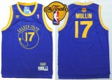 Golden State Warriors #17 Chris Mullin Blue New Throwback The Finals Patch Stitched NBA Jersey