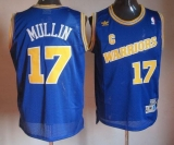 Golden State Warriors #17 Chris Mullin Blue Throwback Stitched NBA Jersey