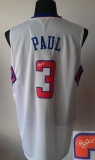 Revolution 30 Autographed Los Angeles Clippers #3 Chris Paul White Stitched NBA Jersey
