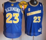 Golden State Warriors #23 Mitch Richmond Blue Throwback The Finals Patch Stitched NBA Jersey