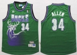 Milwaukee Bucks #34 Ray Allen Green Throwback New Stitched NBA Jersey