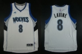 Minnesota Timberwolves #8 Zach LaVine White Home Stitched NBA Jersey