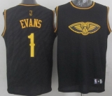 New Orleans Pelicans #1 Tyreke Evans Black Precious Metals Fashion Stitched NBA Jersey