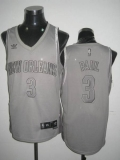 New Orleans Pelicans #3 Chris Paul Stitched Grey Anniversary Style NBA Jersey