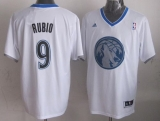 Minnesota Timberwolves #9 Ricky Rubio White 2013 Christmas Day Swingman Stitched NBA Jersey