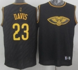 New Orleans Pelicans #23 Anthony Davis Black Precious Metals Fashion Stitched NBA Jersey