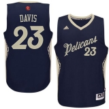 New Orleans Pelicans #23 Anthony Davis Navy 2015-2016 Christmas Day Stitched NBA Jersey