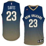 New Orleans Pelicans #23 Anthony Davis Navy Resonate Fashion Swingman Stitched NBA Jersey