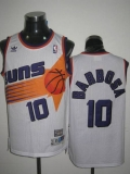Mitchell & Ness Phoenix Suns #10 BLeandro Barbosa Stitched White Throwback NBA Jersey