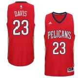 New Orleans Pelicans #23 Anthony Davis Red Alternate Stitched NBA Jersey