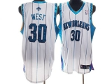 New Orleans Pelicans #30 David West Stitched White NBA Jersey