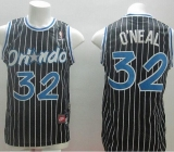 Nike Orlando Magic #32 Shaquille O\'Neal Black Throwback Stitched NBA Jersey