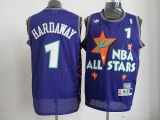 Orlando Magic #1 Penny Hardaway Blue All Star 1995 Stitched NBA Jersey