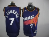 Phoenix Suns #7 K Johnson Throwback Purple Stitched NBA Jersey