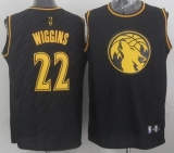 Minnesota Timberwolves #22 Andrew Wiggins Black Precious Metals Fashion Stitched NBA Jersey