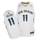Revolution 30 New Orleans Pelicans #11 Jrue Holiday White Stitched NBA Jersey