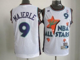 Phoenix Suns #9 Dan Majerle White 1995 All Star Throwback Stitched NBA Jersey