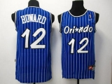 Orlando Magic #12 Dwight Howard Blue Throwback Stitched NBA Jersey
