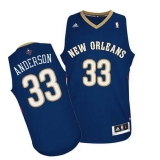 Revolution 30 New Orleans Pelicans #33 Ryan Anderson Navy Stitched NBA Jersey