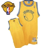 Golden State Warriors Blank Gold Throwback The Finals Patch Stitched NBA Jersey