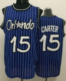 Orlando Magic #15 Vince Carter Blue Throwback Stitched NBA Jersey