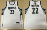 Revolution 30 Minnesota Timberwolves #22 Andrew Wiggins White Stitched NBA Jersey
