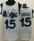 Orlando Magic #15 Vince Carter White Throwback Stitched NBA Jersey