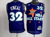 Orlando Magic #32 Shaquille O\'Neal Purple 1995 All Star Throwback Stitched NBA Jersey