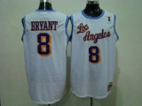 Mitchell and Ness Los Angeles Lakers #8 Kobe Bryant White Stitched Throwback NBA Jersey