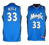 Orlando Magic #33 Grant Hill Blue Throwback Stitched NBA Jersey