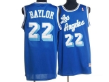 Mitchell and Ness Los Angeles Lakers #22 Elgin Baylor Stitched Blue Throwback NBA Jersey