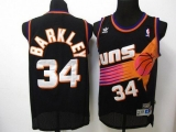 Phoenix Suns #34 Charles Barkley Black Throwback Stitched NBA Jersey