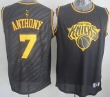 New York Knicks #7 Carmelo Anthony Black Precious Metals Fashion Stitched NBA Jersey