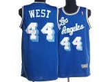 Mitchell and Ness Los Angeles Lakers #44 Jerry West Stitched Blue Throwback NBA Jersey