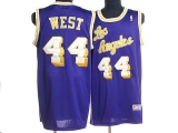 Mitchell and Ness Los Angeles Lakers #44 Jerry West Stitched Purple Throwback NBA Jersey