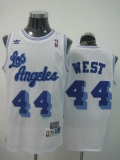 Mitchell and Ness Los Angeles Lakers #44 Jerry West Stitched White Throwback NBA Jersey