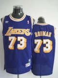 Mitchell and Ness Los Angeles Lakers #73 Dennis Rodman Stitched Blue Throwback NBA Jersey
