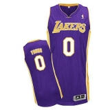 Revolution 30 Los Angeles Lakers #0 Nick Young Purple Stitched NBA Jersey